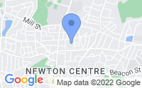 Map of Newton Center MA
