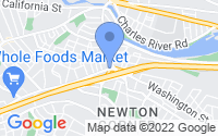 Map of Newton MA