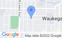 Map of Waukegan IL