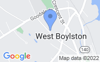 Map of West Boylston MA