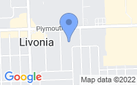 Map of Livonia MI