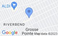 Map of Grosse Pointe Park MI