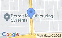 Map of Detroit MI