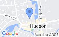 Map of Hudson MA
