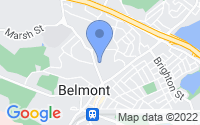 Map of Belmont MA