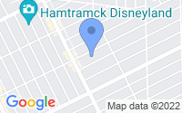 Map of Hamtramck MI