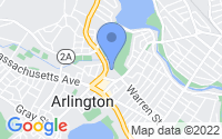 Map of Arlington MA