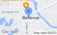 Map of Bellevue MI