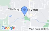 Map of South Lyon MI