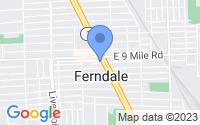 Map of Ferndale MI