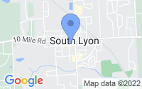 Map of South Lyon MI