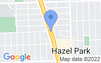Map of Hazel Park MI