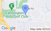 Map of Farmington Hills MI
