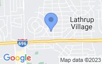 Map of Lathrup Village MI