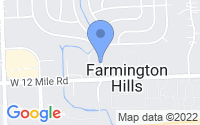 Map of Farmington Hills MI