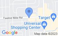 Map of Madison Heights MI
