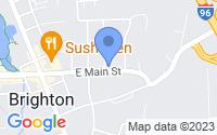 Map of Brighton MI