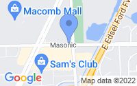 Map of Roseville MI