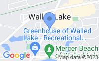 Map of Walled Lake MI