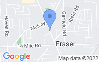 Map of Fraser MI