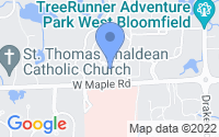 Map of West Bloomfield Township MI