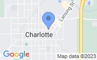 Map of Charlotte MI
