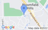 Map of Bloomfield Hills MI
