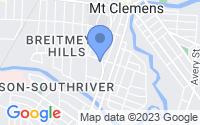 Map of Mount Clemens MI