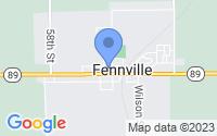 Map of Fennville MI