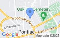 Map of Pontiac MI