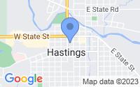 Map of Hastings MI