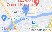 Map of Lawrence MA
