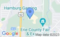 Map of Hamburg NY