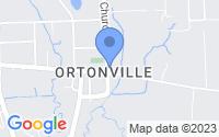 Map of Brandon Township MI