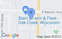 Map of Oak Creek WI