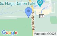 Map of Darien Center NY