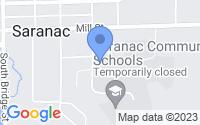 Map of Saranac MI