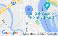 Map of Port Huron MI