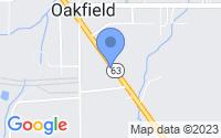 Map of Oakfield NY