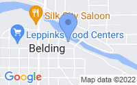 Map of Belding MI