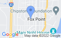 Map of Fox Point WI