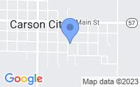 Map of Carson City MI