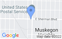 Map of Muskegon Heights MI