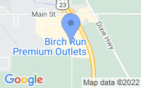Map of Birch Run MI