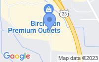 Map of Birch Run MI