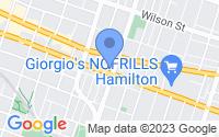 Map of Hamilton ON