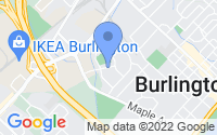 Map of Burlington ON