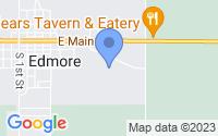 Map of Edmore MI