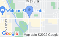 Map of Sioux Falls SD