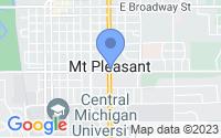 Map of Mount Pleasant MI